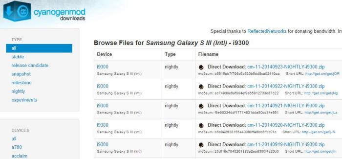 Descarga de la ROM para el Galaxy S3