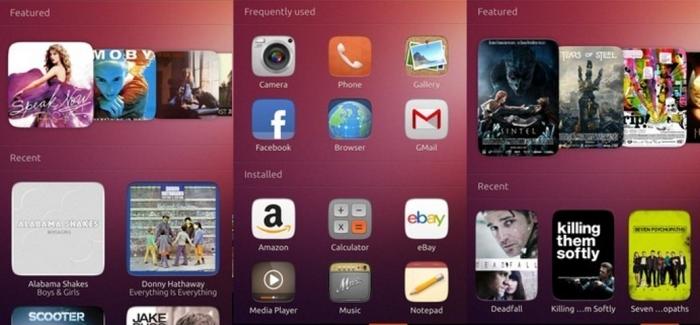 Pantallas de Ubuntu Touch