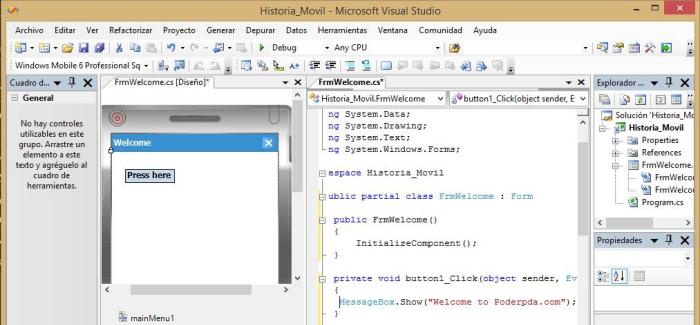 VisuaStudioWindowsMobile