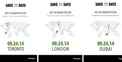 BlackBerry anuncia un evento programado para el 24 de Septiembre en donde conoceremos al BlackBerry PAssport