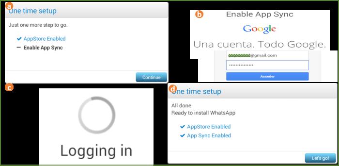 Configurando el Apps Sync