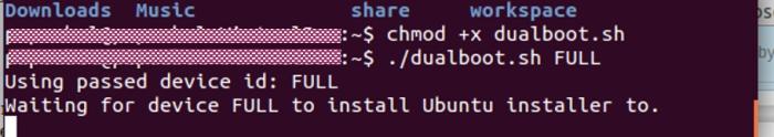 Aplicación de instalación de Ubuntu en Android
