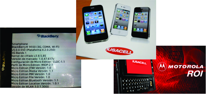 Blackberry, iPhone, MotoROI CDMA