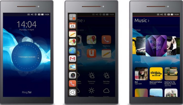 Vista de la Interfaz de Ubuntu Phone
