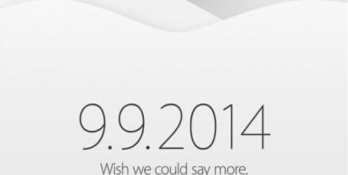 Anuncio de la Keynote de Apple® del nueve de setiembre de 2014