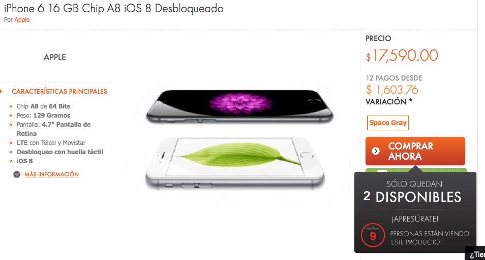 linio-iphone 6-16GB