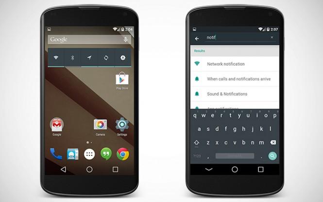 Algunos Nexus 4 con Android L han sido captados en Google +.