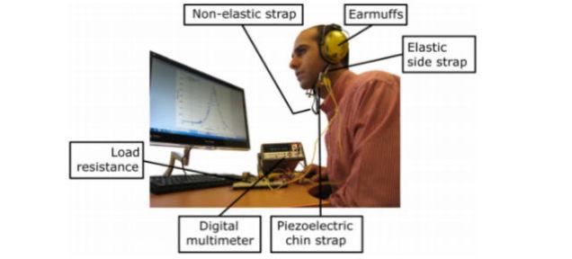 piezoelectric chin-strap