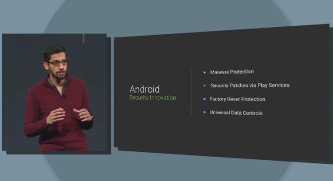 Presentación de funciones de protección en Android® L.