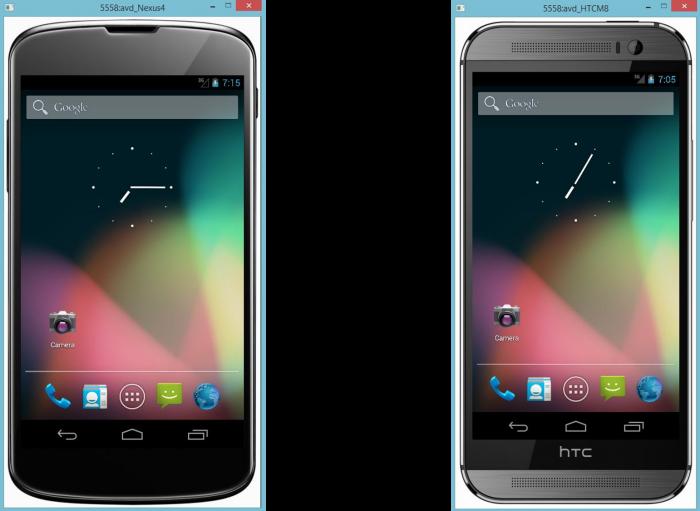 Skin para un Nexus® cuatro y un HTC® M8