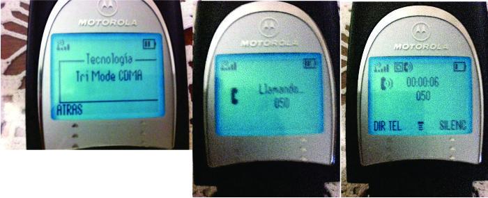 Motorola V60 CDMA creando llamadas