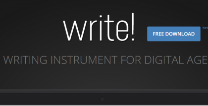 Write!, el editor sin distracciones