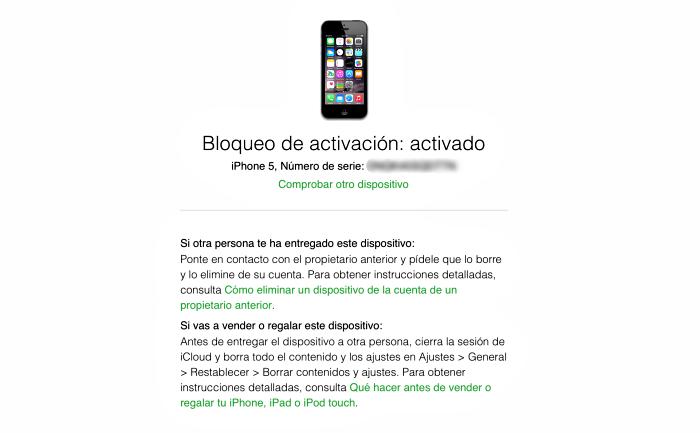 Apple Bloqueo de Activación