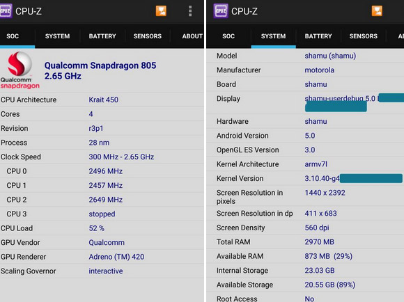 Motorola-Shamu-CPU-Z