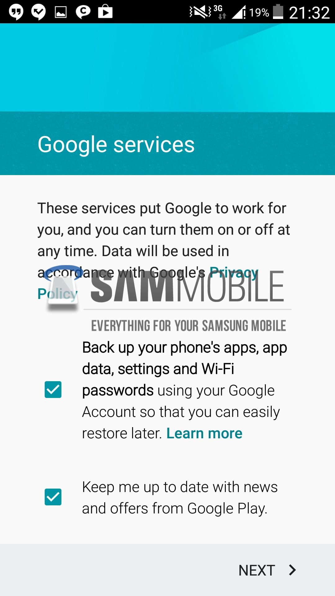 Configuración de cuenta de Google