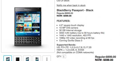 blackberry passport agotado