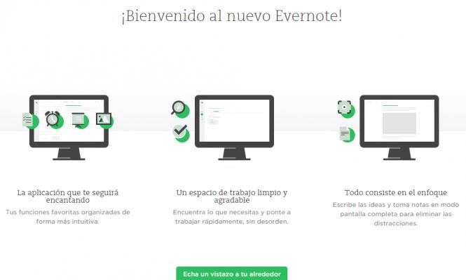 Trabajar rápido y sin desorden son las promesas de la interfaz rediseñada de Evernote