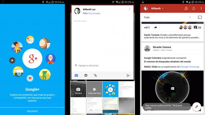 Así luce Google+ con el rediseño a material desing