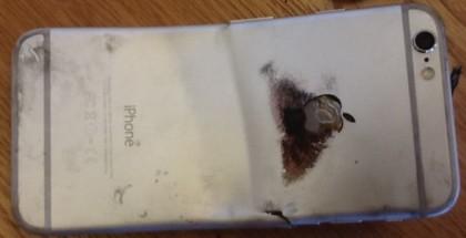 iphone quemado y doblado