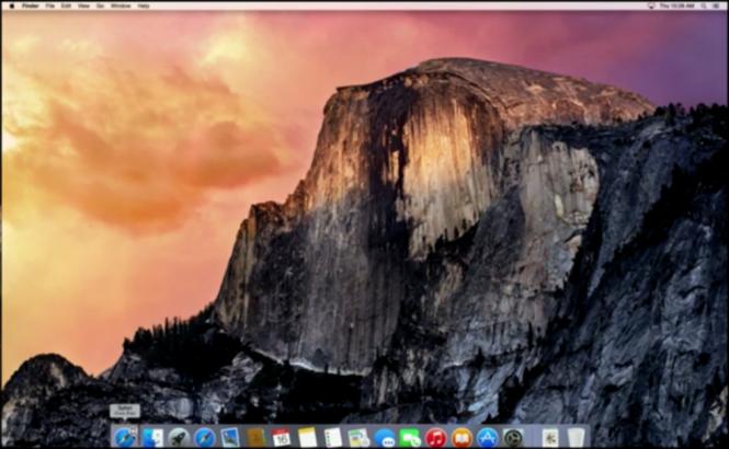 Captura de pantalla de la ultima modernización de OS X (Yosemite).