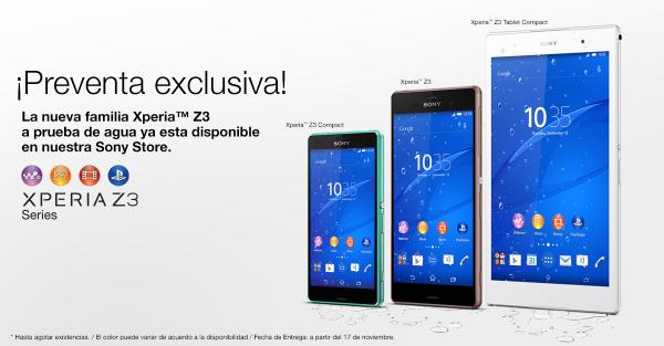preventa-familia-Sony-Z3