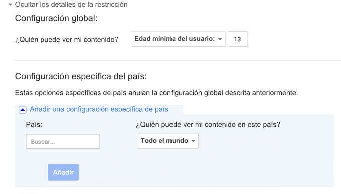 restricciones Google+