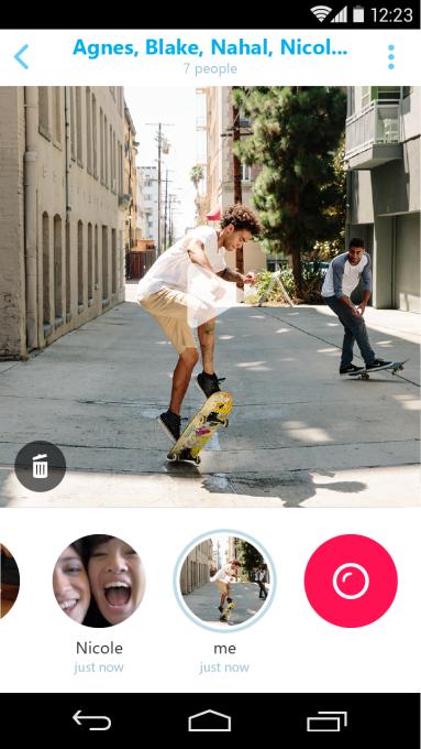 skype qik-android