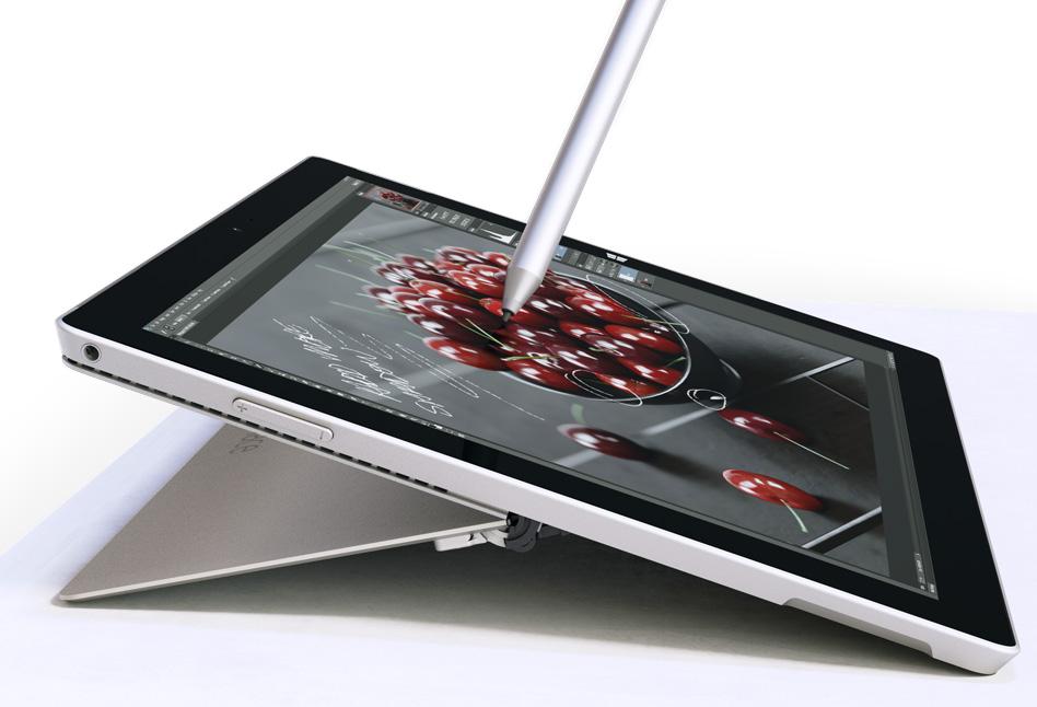 La Surface 3 tiene funciones espaciales con el uso de la stylus de precisión