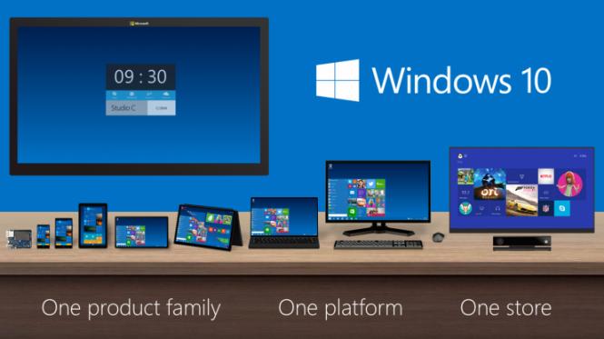 Windows 10 es un sistema operativo para todas las plataformas