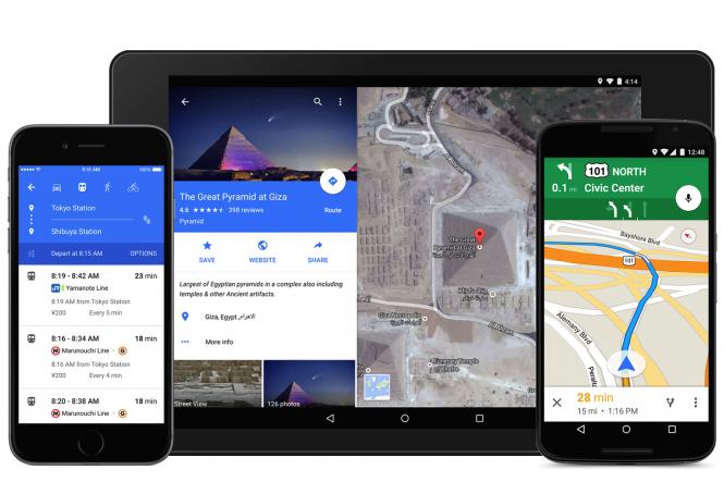 Google Maps recibió Material Design tanto en Android como en iOS.