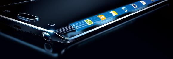 Note Edge con la curvatura que podría presentar el Samsung Galaxy S6