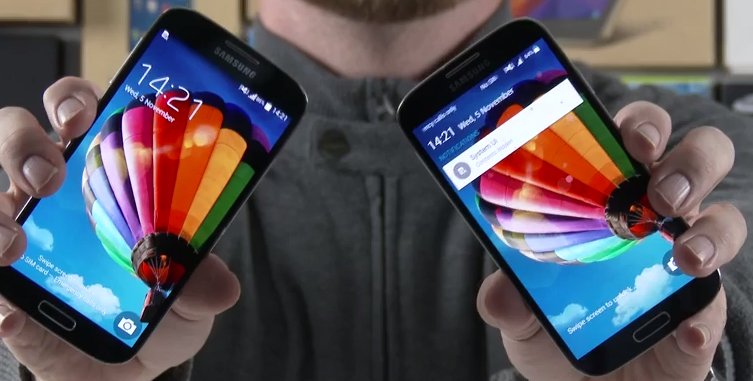 Galaxy-S4-Android-Lollipop-vs-Android-KitKat