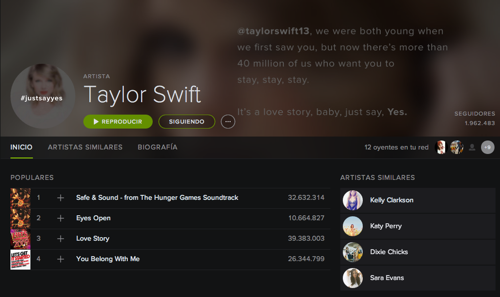 Taylor Swift Spotify