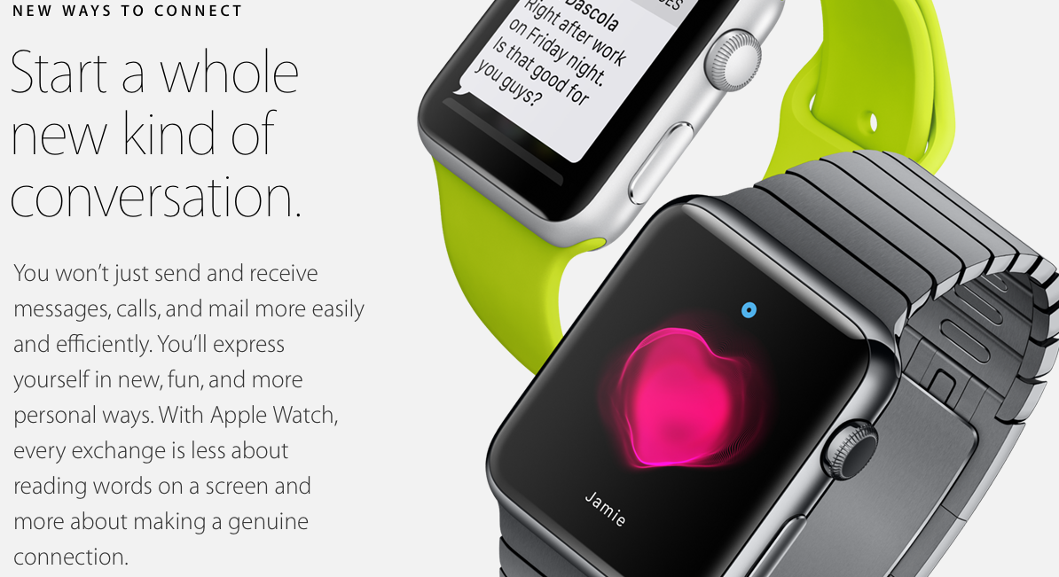apple watch- new ways to conecct