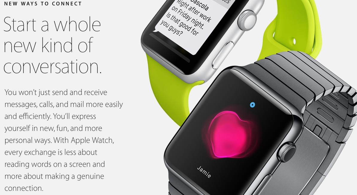 apple watch- new ways to conecct