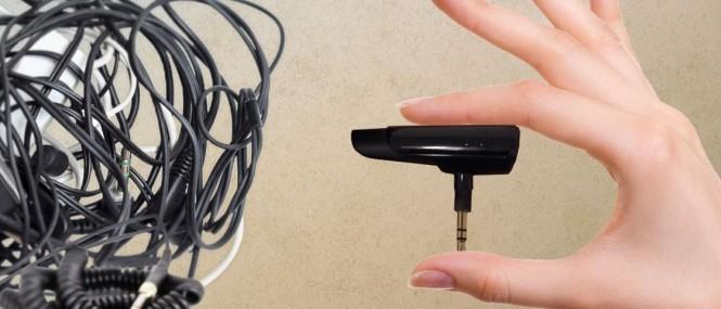 BTunes es el adaptador que convierte tus audifonos alámbricos en inalámbricos.