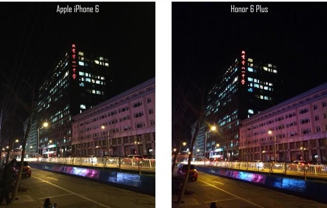 Comparativa a poca luz entre el iPhone 6 y el Honor 6 Plus