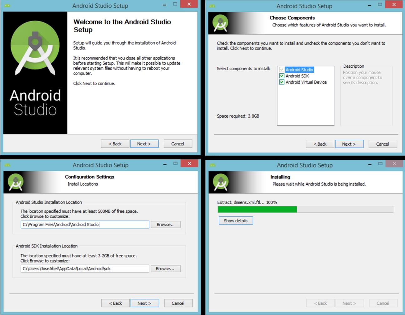 Instalacion Android Studio 1.0