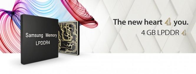 Samsung comenzó la producción de sus módulos LPDDR4 de 4 GB de RAM: