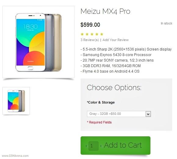 Meizu MX4 Pro - Envios mundiales