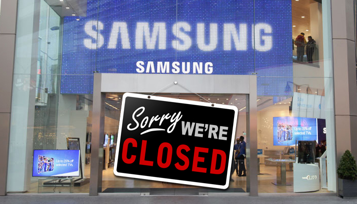 Samsung store closed