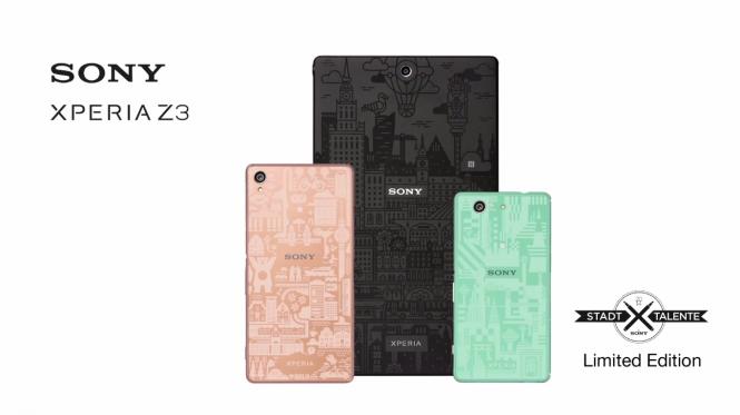 """Familia Xperia Z3 intervenida con """"City Talent"""""""