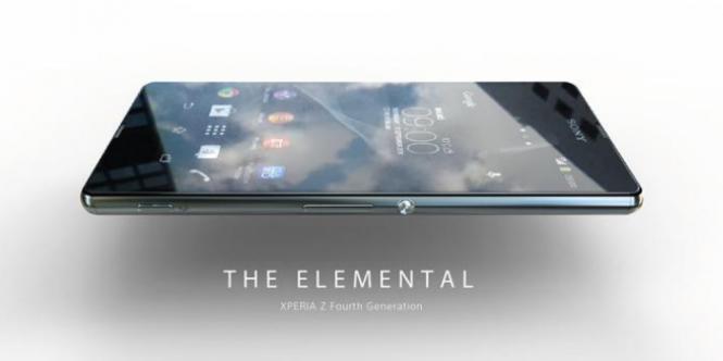 Imagen del supuesto diseño del Xperia Z4
