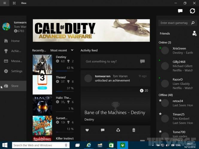 Nueva aplicación de Xbox en Windows 10