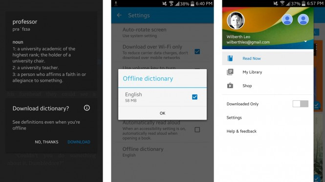 Google Play Books añade diccionarios offline