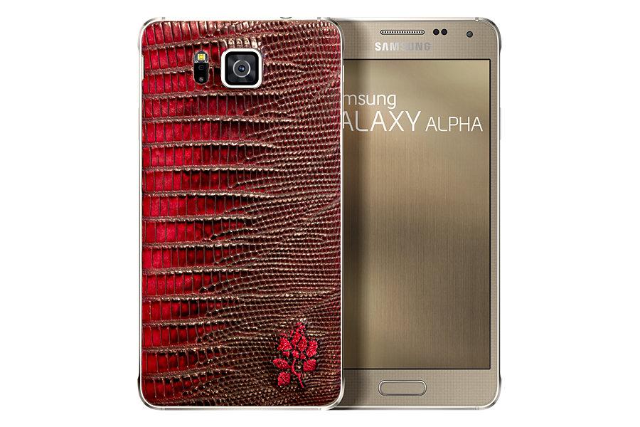 galaxy alpha edicion limitada rojo
