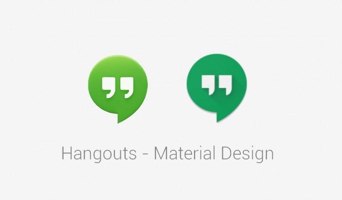 Hangouts Material Design.
