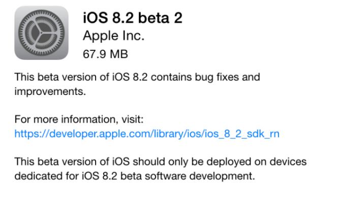 iOS 8.2 beta 2