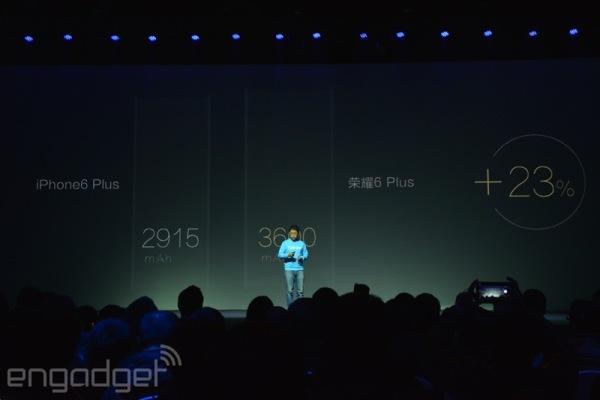 iPhone 6 Plus vs Honor 6 Plus battery