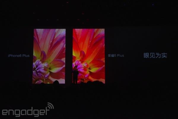 iPhone 6 Plus vs Honor 6 Plus screen